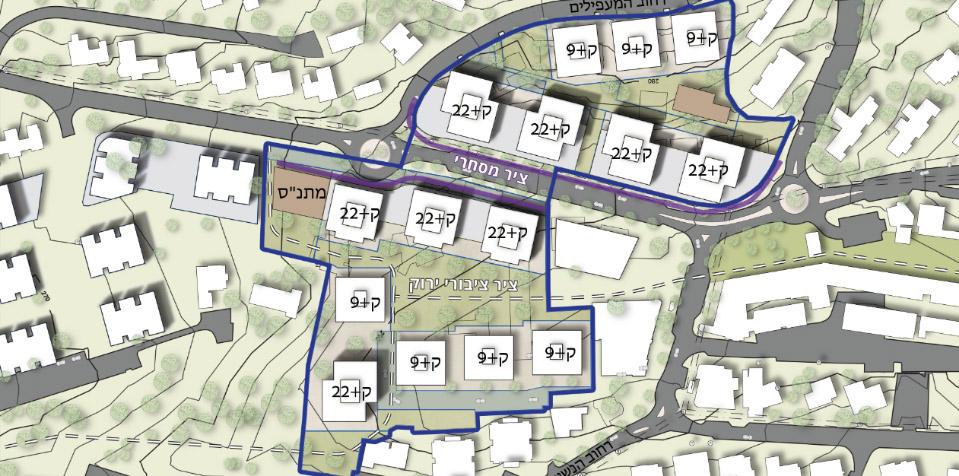 מפת השכונה בעתיד